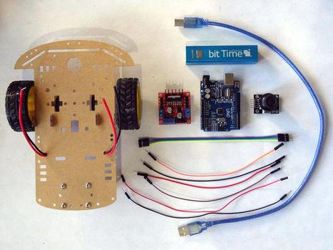Arduino Uno and Visuino: Control Smart Car Robo