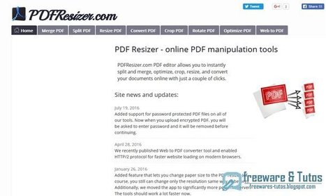 PDFResizer : une suite PDF en ligne | Time to Learn | Scoop.it