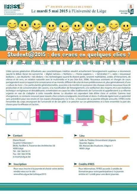 Student@2015 : des cracs en quelques clics ? | 8° Journée annuelle de l'IFRES | eLearning en Belgique | Scoop.it