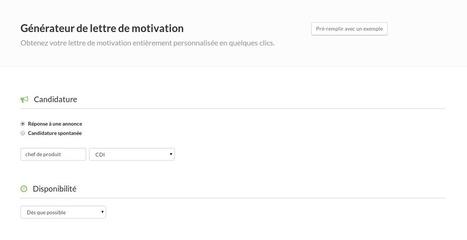 Motivator - Générateur de lettre de motivation   BeginWith   Scoop.it