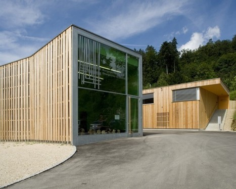 Forestry Center at the Edge of the Urban Fabric in Switzerland... | sustainable architecture | Scoop.it