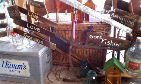 Signs From Antique Wooden Shingles | Antiques & Vintage Collectibles | Scoop.it