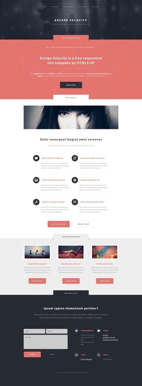 33 Best Free Html5 Responsive Templates - WeDesignPixel   Template & Webdesign   Scoop.it