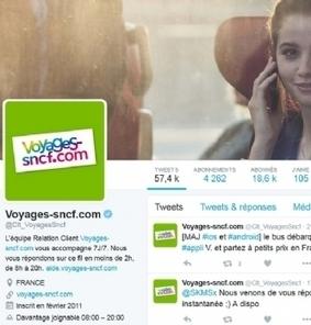 Voyages-sncf.com 'davantage joignable' sur Twitter | Marketing innovations | Scoop.it