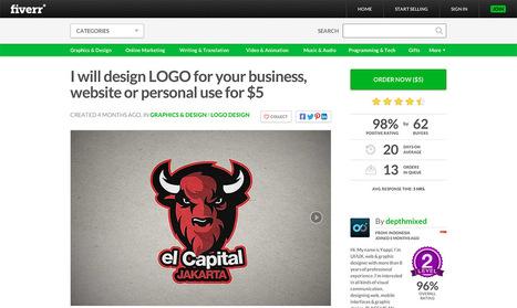 Fiverr & the $5 logo | Designer's Resources | Scoop.it
