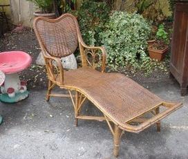 fauteuil de repos 1900 en rotin puces d 39 oc br. Black Bedroom Furniture Sets. Home Design Ideas