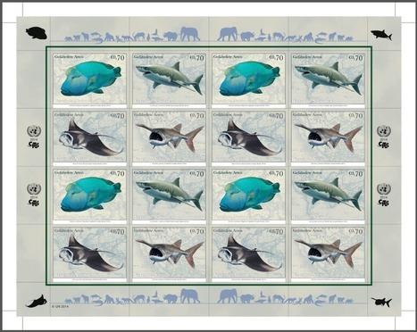 Quand la poste des Nations unies défend requins, hippocampe, raie manta, napoléon et autres espèces menacées | Information sur les océans | Scoop.it