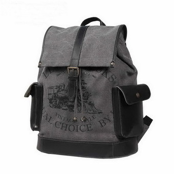 34c1fcd3bfc2 Tough canvas backpacks laptop bag weekend pack unisex Grey from Vintage  rugged canvas bags