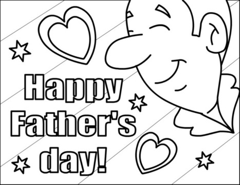 Happy Fathers Day Coloring Pages Handmade Card Id In Latest Trends