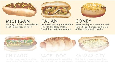 40 Ways The World Makes Awesome Hot Dogs | World's Best Infographics | Scoop.it