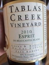Spotlight on Unusual California White Wine: Tablas Creek Esprit de Beaucastel Blanc 2010 | A Wine for Valentine's Day... | Scoop.it
