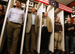 First official votes counted: Obama and Romney tie with 5 vote each in Dixville Notch, New Hampshire   Scene   Scoop.it