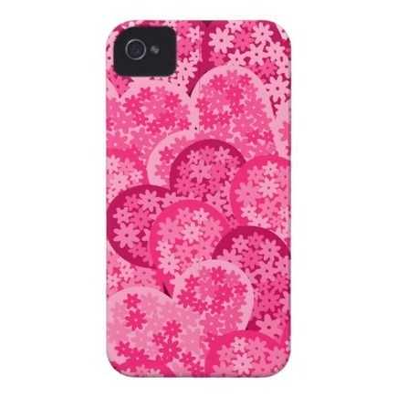 Hearts with flowers iPhone 4/4S Case iPhone 4 Cases from Zazzle.com | Cute floral iPhone Cases | Scoop.it