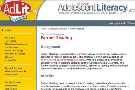 Partner Reading | Classroom Strategies | AdLit.org | Teaching L2 Reading | Scoop.it