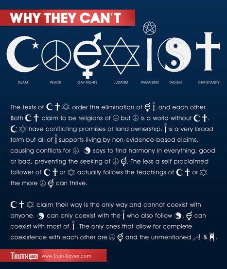 A More Honest COEXIST Poster | Friendly Atheist | Modern Atheism | Scoop.it