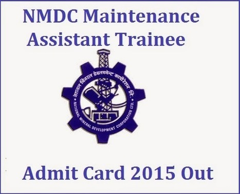NMDC Maintenance 2015 Assistant Trainee Result - All Exam News|Results|Exam Results|Recruitment 2015 | All Exam News | Scoop.it