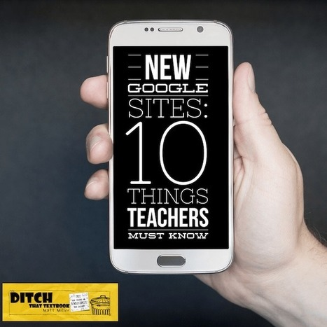NEW Google Sites: 10 things educators should kn