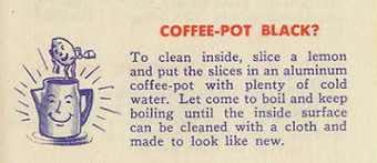 Things Your Grandmother Knew: How To Clean Black Out Of Aluminum Coffee Pots | Vintage Living Today For A Future Tomorrow | Scoop.it