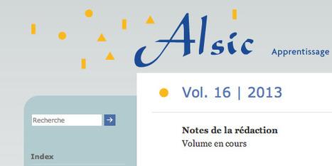 Alsic: Vol. 16 | 2013 | TELT | Scoop.it