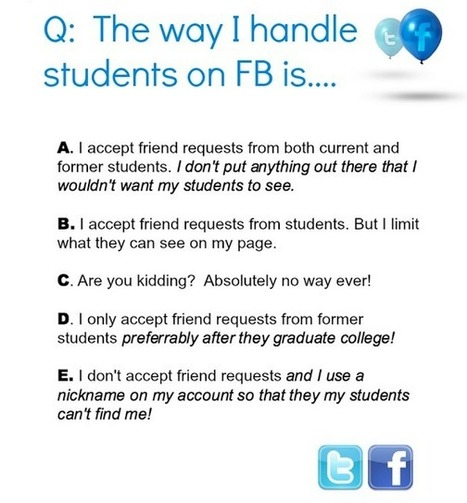 How to Handle Students on Facebook | Sinapsisele 3.0 | Scoop.it