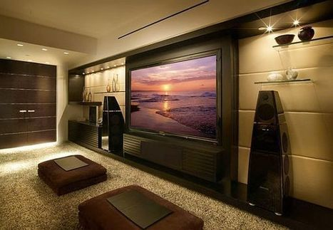 9 Awesome Media Rooms Designs: Decorating Ideas for a Media Room | Designing Interiors | Scoop.it