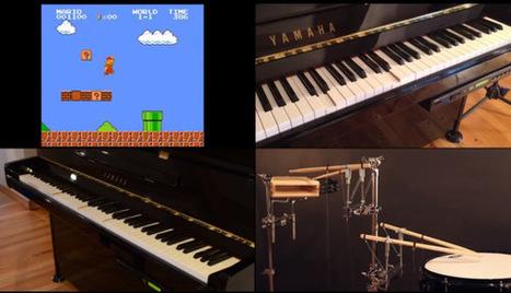 Mario plays piano with a little help from Raspberry Pi | Arduino, Netduino, Rasperry Pi! | Scoop.it