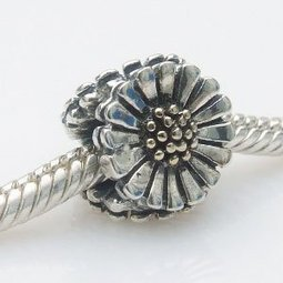 4e247a064 Sunflower Authentic Sterling Silver Bead Fits Pandora Chamilia Biagi Troll.