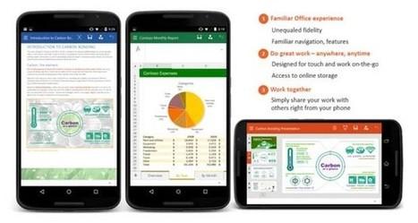 Android : Microsoft propose une nouvelle version de Word, Excel et ... - Linformatique.org   Ofadis : Formez vous autrement   Scoop.it