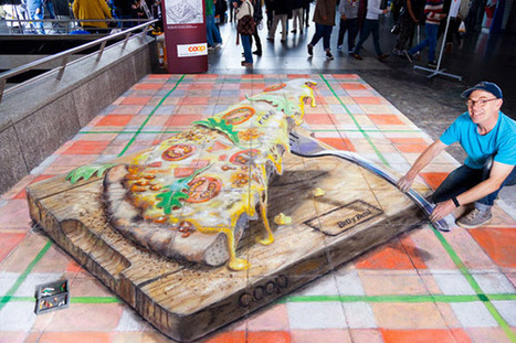 Zurich Pizza Pavement Drawing   Mighty Optical Illusions   The brain and illusions   Scoop.it