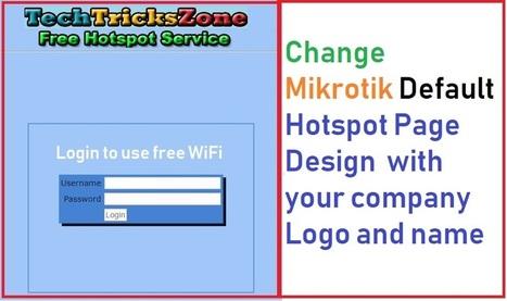 How To Change Default Mikrotik Hotspot Login Pa
