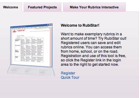 RubiStar Home | GSHP eLearning | Scoop.it