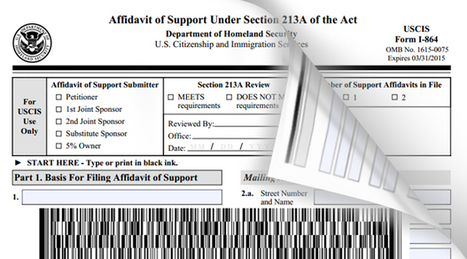 New Uscis Immigration Form I 864 Barcodes Incor