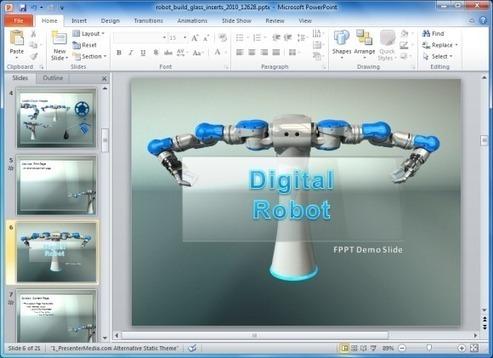 Animated robot powerpoint template for manufact animated robot powerpoint template for manufact toneelgroepblik Gallery