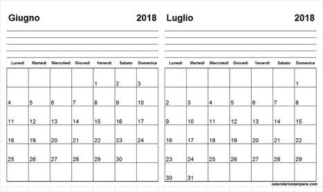 Calendario 2019 Giugno Luglio Ikbenalles