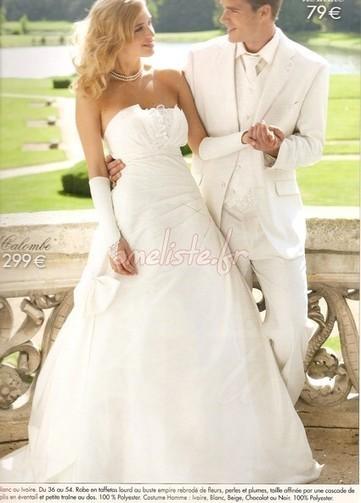 Robe de mariee avec bretelle tati