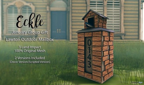 Lawton Outdoor Mailbox January 2017 Group Gift by Eckle | Teleport Hub - Second Life Freebies | Second Life Freebies | Scoop.it