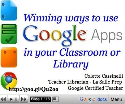 Integrating Google Tools 4 Teachers | School Psychology Tech | Scoop.it