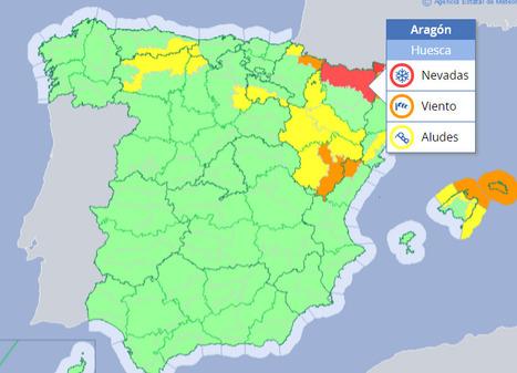Alerte rouge pour chute de neige dans les Pyrénées aragonaises les 15 et 16 janvier | Vallée d'Aure - Pyrénées | Scoop.it