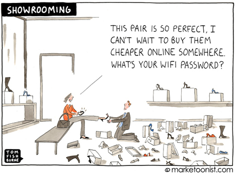 """Showrooming"" cartoon 