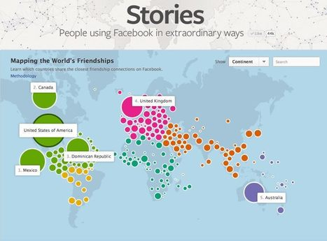 Interactive: Mapping the World's Friendships | Geography Education | Scoop.it