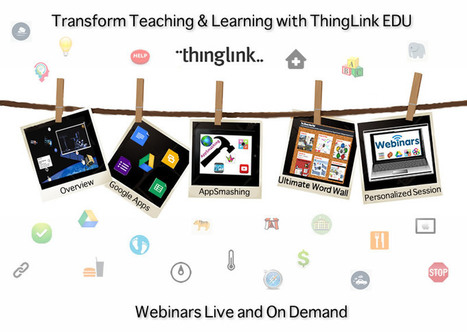 Free Webinars to Transform Teaching & Learning | Cool Tools for 21st Century Learners | Cool Tools for Multimedia | Scoop.it
