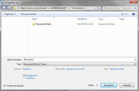 Sauvegarder vos documents office 2010 directement dans Skydrive   Time to Learn   Scoop.it