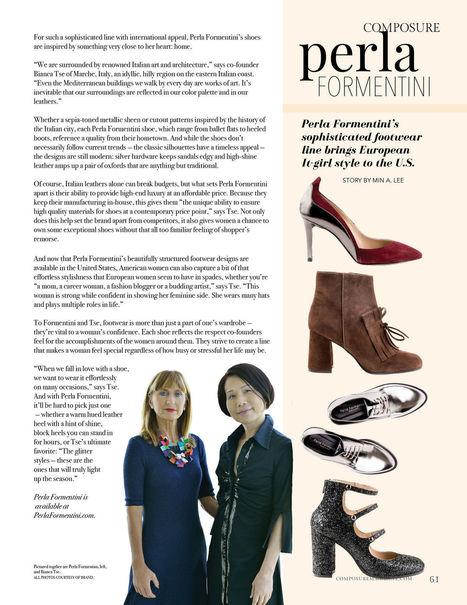 Perla Formentini From Le Marche to U.S. | Le Marche & Fashion | Scoop.it