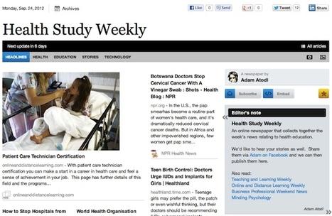 Sept 24 - Health Study Weekly is out | Health Studies Updates | Scoop.it