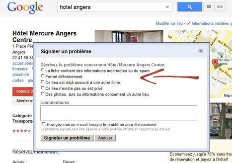 Surveillez votre fiche Google adresses, elle a peut être été spammée !   Chambres d'hôtes et Hôtels indépendants   Scoop.it