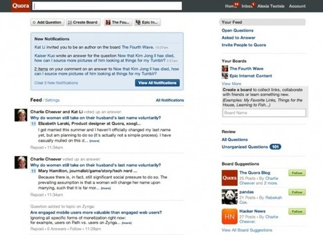 Now You Can Curate Personally Information On Quora With: Boards   Social Media Content Curation   Extreme Social   Scoop.it