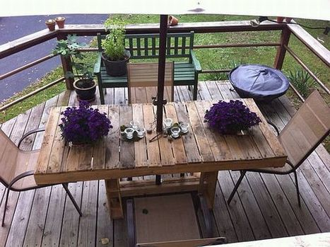 Pallet Furniture: Recycling Pallets into Unique Furniture Pieces | Designing Interiors | Scoop.it