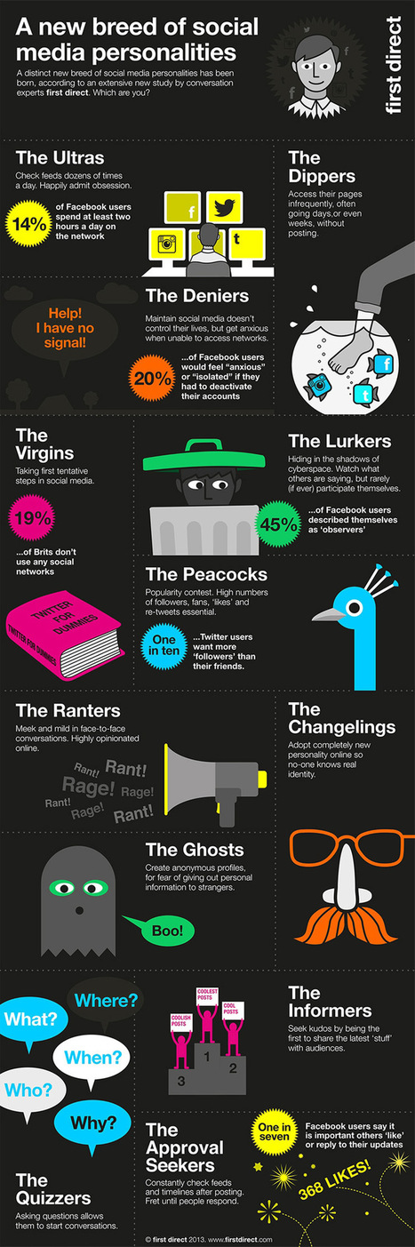 12 Types Of Social Media Users – infographic   New-workplace-learning   Scoop.it