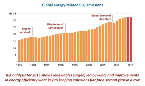 Decoupling global emissions and economic growth claimed by IEA-One sided moon.  | Oven Fresh | Scoop.it