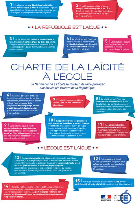 Charte de la laïcité à l'École - Ministère de l'Éducation nationale | Remue-méninges FLE | Scoop.it
